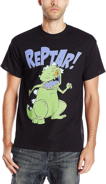 TAILAD Rugrats Mens Reptar T-Shirt, 0Black, Medium