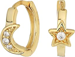 SHASHI - Moon Star Huggie Hoop Earrings
