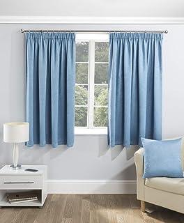 Enhanced Living Cortina con Ojales de Color Azul, para niños, con Forro y Parte Superior de Cinta, térmica, bloquea la Cortina, Azul, Cushion Cover - 17