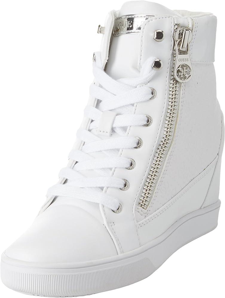 Guess footwear active lady,scarpe sneakers a collo alto per donna,numero 40 eu,in pelle FLFOR1PEL12