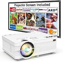 Proyector QKK 4500 Lumen Soporta 1080P Full HD, Proyector