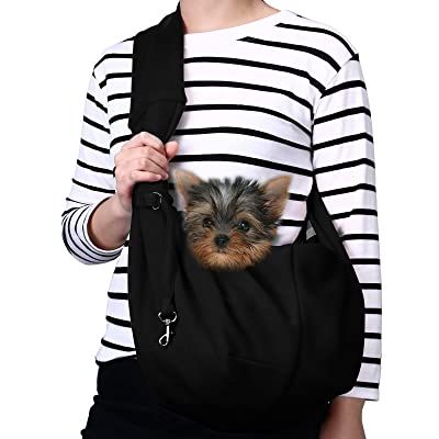 TOMKAS Small Dog Cat Carrier Sling Hands Free P...
