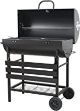 EU-AIRBIN BBQ Grill, Charcoal Barbecue Grill with Temperature Control, Barrel Charcoal BBQ Perfect for Gardens, Outdoor, C...