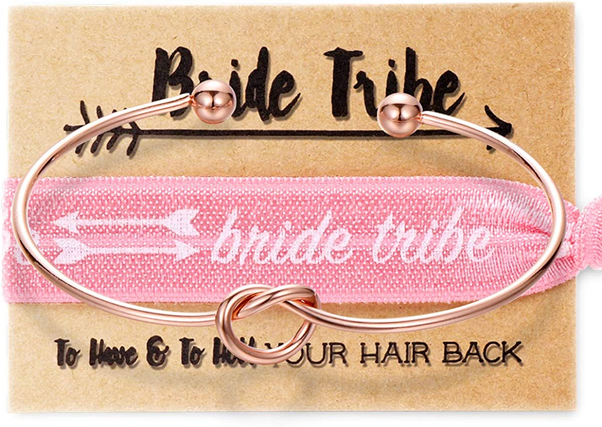 MOOKOO Bridesmaid Bracelets Hair Very popular Tie Forever Tribe Love Bride Kn A surprise price is realized