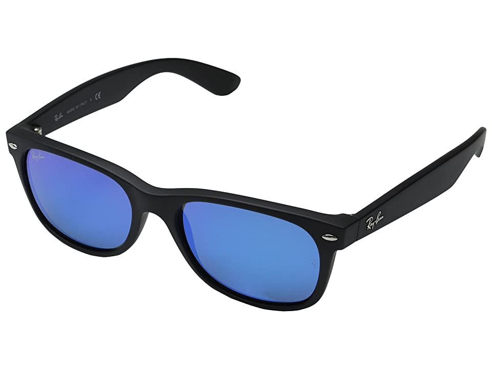 Ray-Ban RB2132 New Wayfarer 55mm (Rubber Black) Fashion Sunglasses