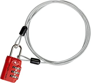 Eagle Creek 3-Dial TSA Lock and Cable, Flame Orange