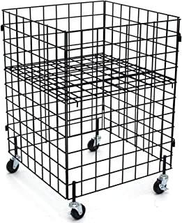 KC Store Fixtures 54106 Grid Dump Bin with Casters, 24