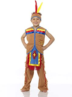Boy's Indian Chief Costume, for Halloween Costume Party Accessory
