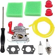 USPEEDA Carburetor for C1U-W19 Craftsman 358.791530 25cc Weed Eater Poulan P4500 P4500E PP26E PP025 Husqvarna 530071811 Trimmer Air Filter