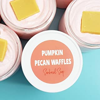 Fall Pumpkin Pecan Waffles Exfoliating Sugar Scrub Soap. Hostess Gift for Women