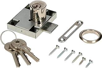 KOTARBAU® Meubelslot 45 x 56 mm opschroefslot rechts met 3 sleutels cilinder-meubelslot kastslot slot ladeslot