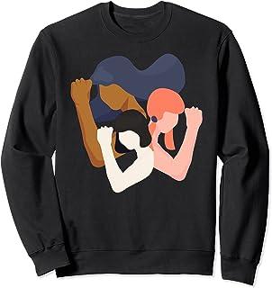 Filles et Femmes Unity Power in Diversity Feminist Sweatshirt