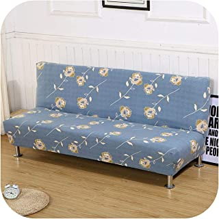 Asarahshop All Inclusive Sofa Bed Cover Without Armrest Tight Wrap Elastic Folding Furniture Couch Cover,Color 1,Large Size