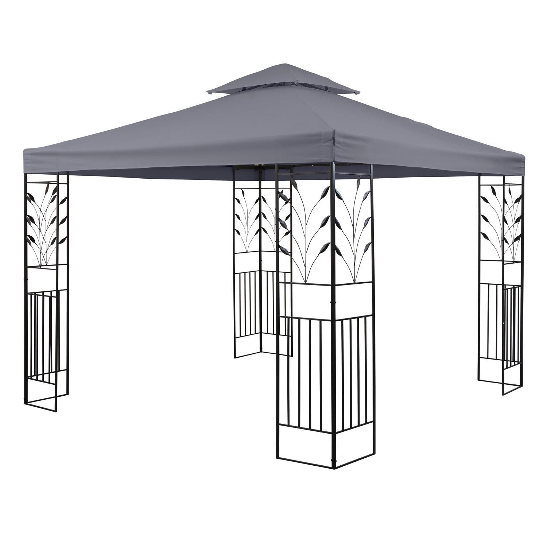 blumfeldt Odeon Grey Pavillon Carpa para Fiestas y jardín (3x3m ...