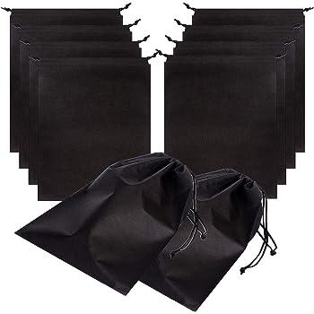 12x15 Black Richards Homewares 6847 Travel Shoe Bag Set of 3