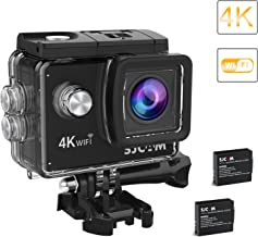 2018-Original SJCAM SJ4000 Air Action Camera 4K WiFi Underwater Cam 16MP Ultra HD Waterproof Sports Camera 170°Wide-Angle 2 Inch LCD 2 Rechargeable 900mAh Batteries Mounting Accessories Kit