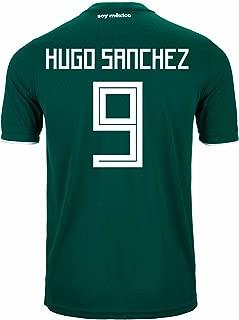 adidas Hugo Sanchez #9 Mexico Home Soccer Stadium Men's Jersey World Cup Russia 2018