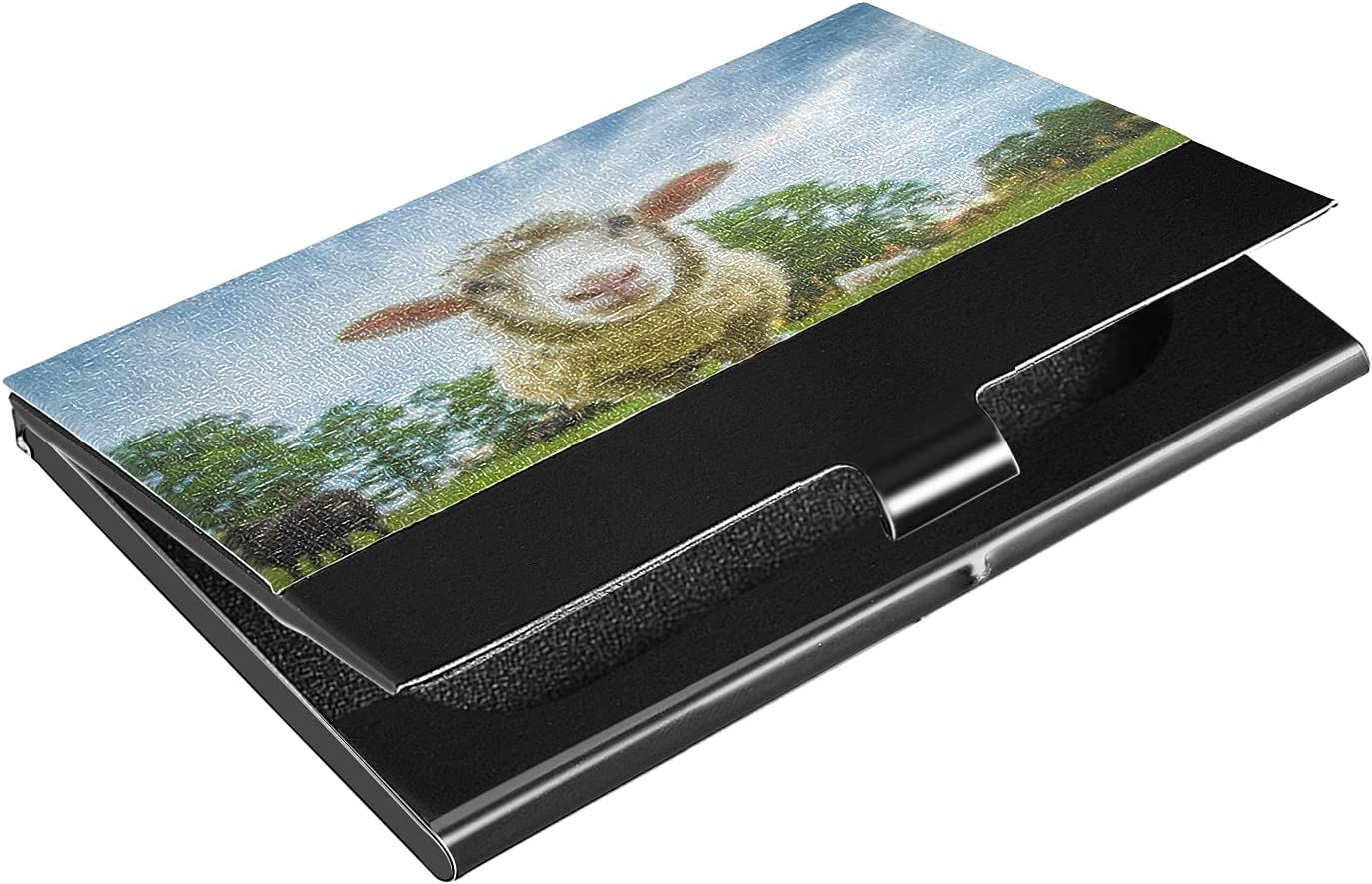 OcuteO Funny Goat Sheep Animal Organizer for Business Women Card Dealing full price Max 86% OFF reduction
