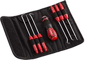 ARES 70255 - Interchangeable Hook and Pick Set - 6-Piece Set Includes Convenient Storage Pouch - Chrome Vanadium Steel Shafts - Easily Remove Hoses, Gaskets and More