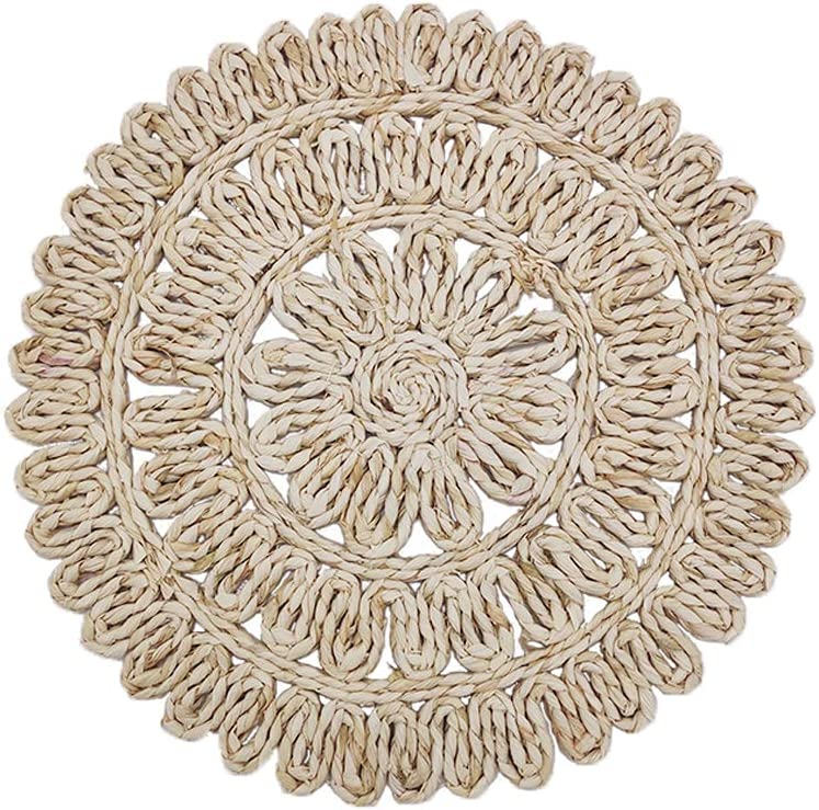 Rattan Chargers Round Placemats Wicker Ranking TOP19 Tab Max 56% OFF Braided Natural Woven