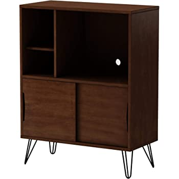 Storage Cabinet and Bookcases | Retro Clifford Media Bookshelf Console