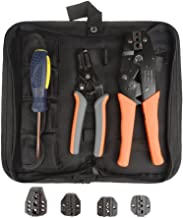 SENTAI Crimping Tool Kit with Stripper & Cutter - For Different Kinds of Terminals with 5 Interchangeable Die Sets 0.5-35mm ² - Packed with Oxford Bag