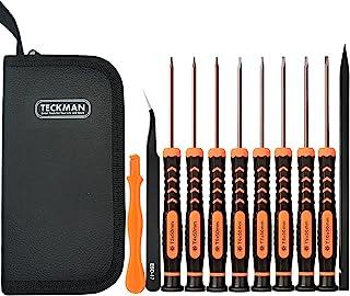 TECKMAN 11 in 1 Torx Screwdriver Set with T3 T4 T5 T6 T7 T8 T9 T10 Security Torx Screwdriver & Tweezer,Magnetic Screwdrive...