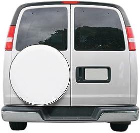 "Classic Accessories 80-218-042301-00 Over Drive RV Universal Fit Spare Tire Cover, Wheels 30"" - 33"" Diameter, White"