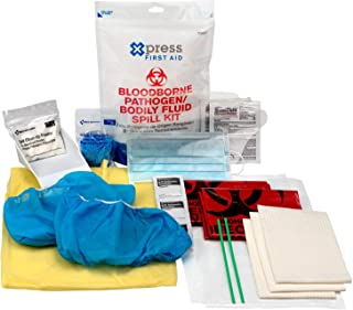 Xpress First Aid Bloodborne Pathogen/Bodily Fluid Spill Clean Up Kit