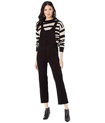 Paige Atley Ankle Flare Overall w/ Seaming (Black Overdye) Women