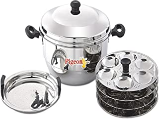 Pigeon - Hot 24 Idly Pot with Steamer, Capacity:7500ml