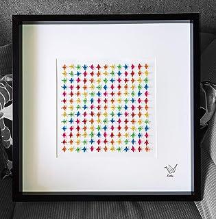 Ikigai, Origami, 169 mini grullas de 2 cm, Senbazuru, regalo original, Cuadro, Buena suerte, Eneko Tapia
