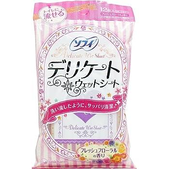 ユニ・チャーム ソフイ デリケ-トウェットシート フロ-ラルの香り 6枚×2