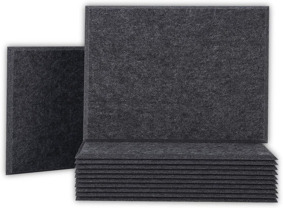 BUBOS 12 Pack Acoustic Panels Sound X 0.4 Proof 16 Time sale Padding Memphis Mall