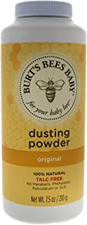 Burt's Bees Baby 100% Natural Dusting Powder, Talc-Free Baby Powder - 7.5 Ounce Bottle (Pack of 1)