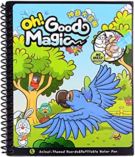 Water Coloring Magic Book With Water Pen, Aqua Doodle Drawing Toys Coloring Book Reusable Education Learning Toys For Todd...