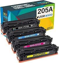 Do it wiser Cartuchos de Tóner CF530A 205A Compatibles para Usar en Lugar de HP Color Laserjet Pro MFP M180n MFP M181fw MFP M180 MFP M180nw MFP M154a CF530A CF531A CF532A CF533A (Pack de 4)