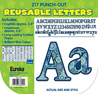 Eureka Back to School Blue Paisley Punch Out Letters for Classrooms, 217 pc, 3.8'' H