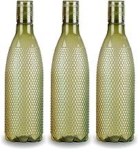 Oliveware Plastic Water Bottle, 1000ml, Set of 3, Green