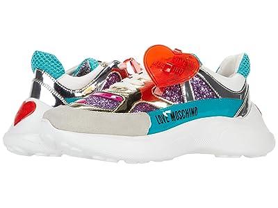 LOVE Moschino Glitter Sneaker (Violet/Pearl) Women