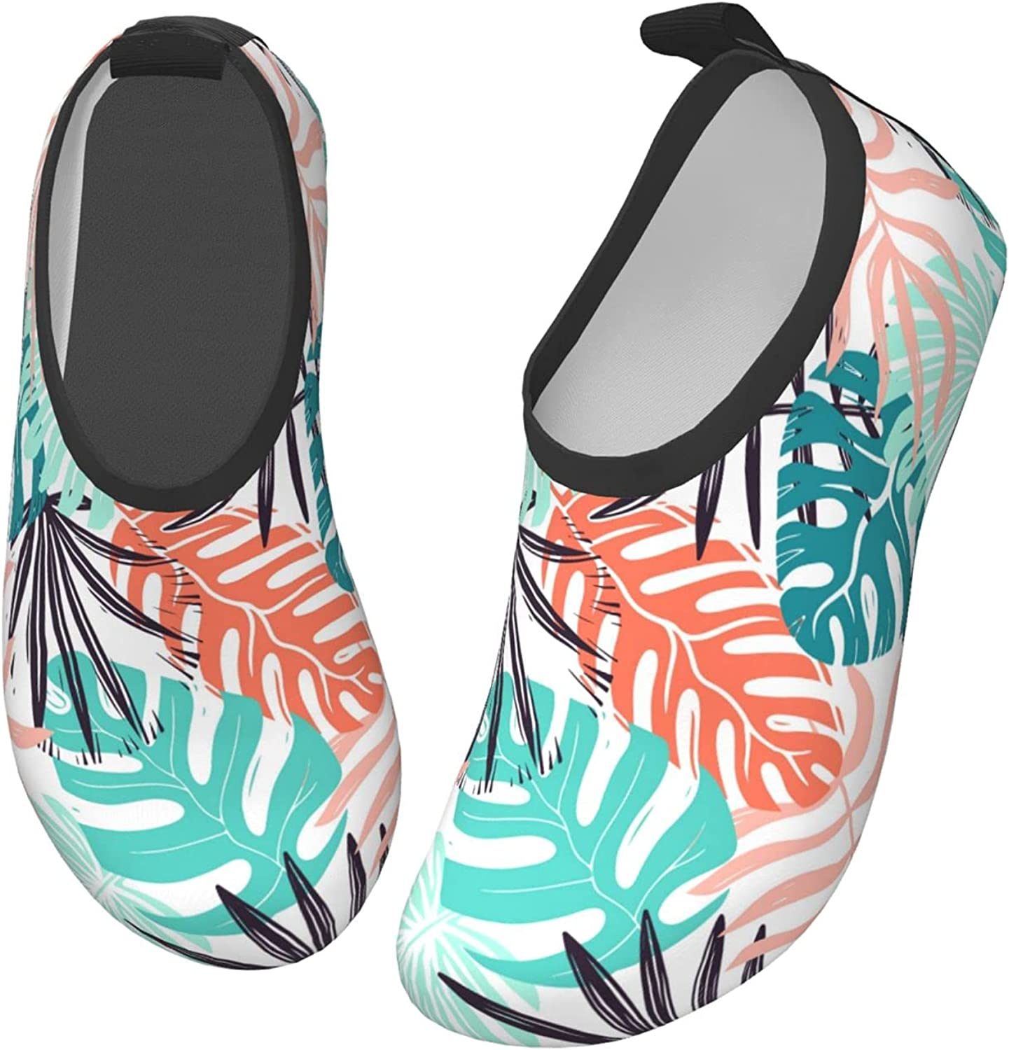 Jedenkuku Leaves Coconut Style Hawaii Summer Children's Water Shoes Feel Barefoot for Swimming Beach Boating Surfing Yoga