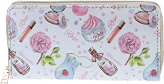 Printed Sparkly Design Patterned Zippered Wallet