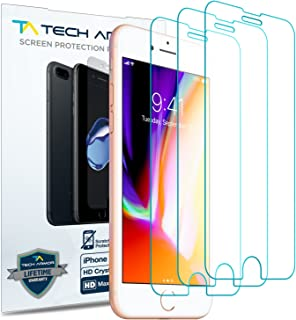 Tech Armor HD Clear Film Screen Protector (Not Glass) for Apple iPhone 7, iPhone 8 (4.7-inch) [3-Pack]