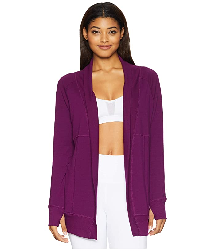 Jockey Active Cozy Cardigan (Absolute Plum) Women
