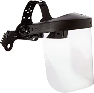 Neiko 53819A Safety Face Shield with Clear Polycarbonate Visor | Adjustable Head Straps | Full Uv Protection For Outdoor Work