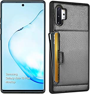 ZVE Samsung Galaxy Note 10 Plus Wallet Case Case with Credit Card Holder Slot Slim Leather Pocket Protective Shockproof Case Cover for Samsung Galaxy Note 10 Plus 5G 6.8 inch (2019) - Black