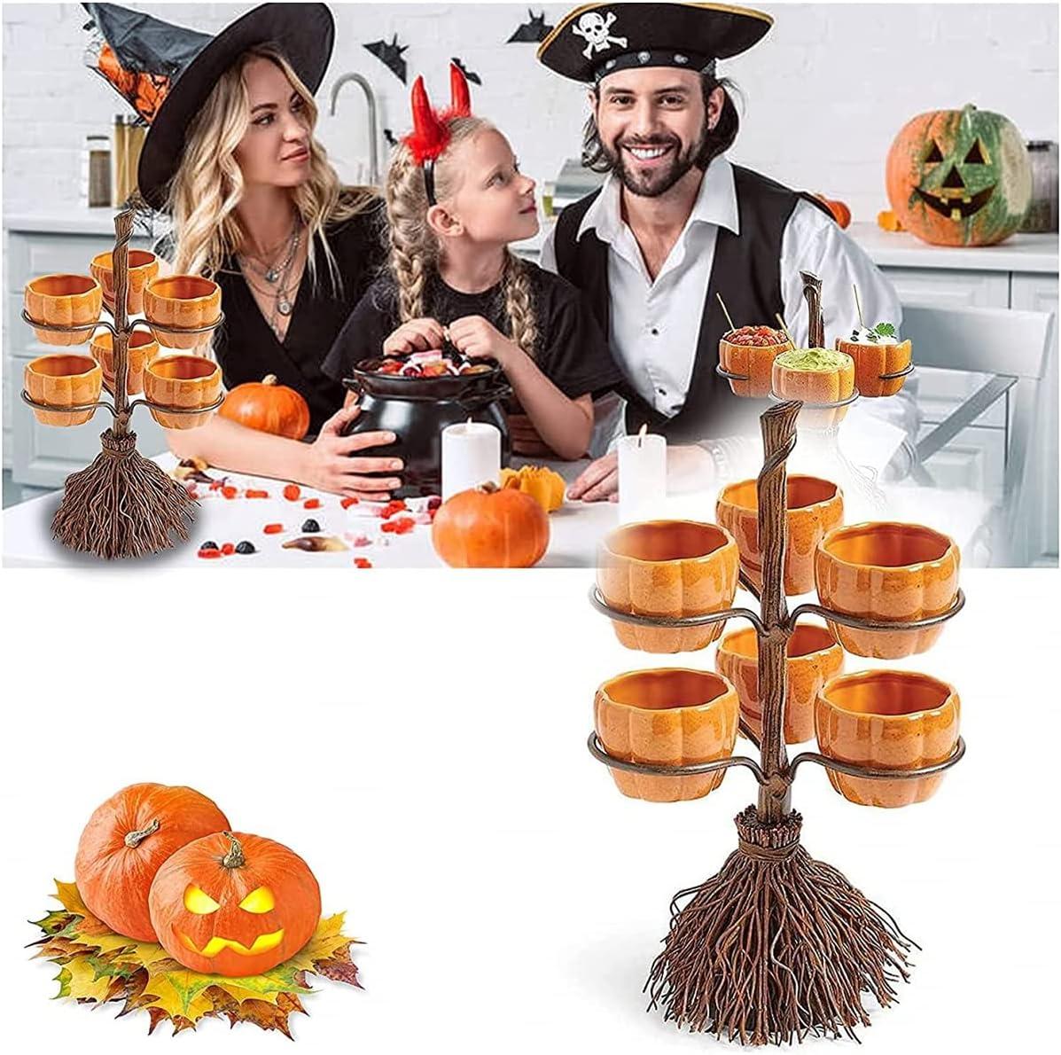 25% OFF Lifekisser Halloween Witch Financial sales sale Hat Bowl Shelf Snack Broomstick