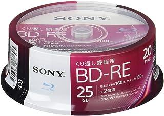 ソニー ビデオ用ブルーレイディスク 20BNE1VJPP2(BD-RE1層:2倍速 20枚パック)