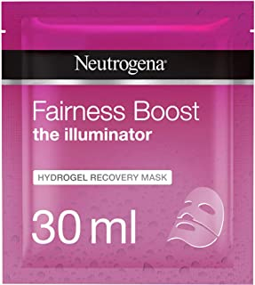 Neutrogena Face Mask Sheet, The Illuminator, Fairness Boost Hydrogel Recovery, 30ml
