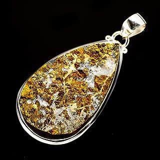 Ana Silver Co Rainbow Pyrite Druzy 925 Sterling Silver Pendant 2 1/4
